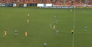 KC presses much further up the pitch than Philly.