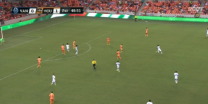 Houston defense gets too narrow too quickly, allowing space on the flanks that Maidana should exploit.