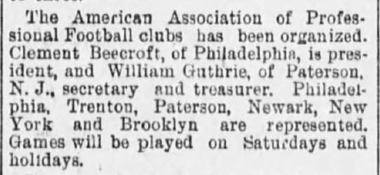 AAPF formed Scranton Tribune 9-1-1894