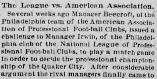 Beecroft challenges Irwin Phila Times 11-1-1894