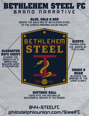 Bethlehem Steel USL branding