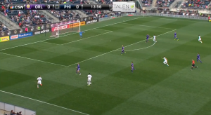 In the 14th minute, Barnetta left Higuita behind as he drove at the space between Collin and Shea.