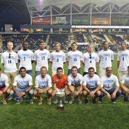 West Chester United honored at PPL Park before the Union's US Open Cup semifinal against Chicago in August. (Photo courtesy of Blaise Santangelo.)
