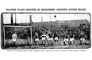 Christmas soccer in Philly, 1915