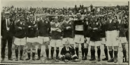 All-Scots team that faced New York FC on July 17, 1921. From Spalding's Official Soccer Football Guide for 1921-1922.