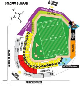 Clipper Magazine stadium soccer layout