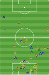 The Union rarely got close to Montreal in their defensive half between the 15th and 51st minutes.