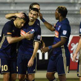 Courtesy of US Soccer, Christos FC celebrates third round victory.