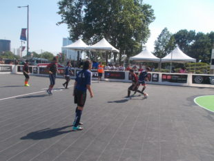 Action from the Street Soccer USA National Cup