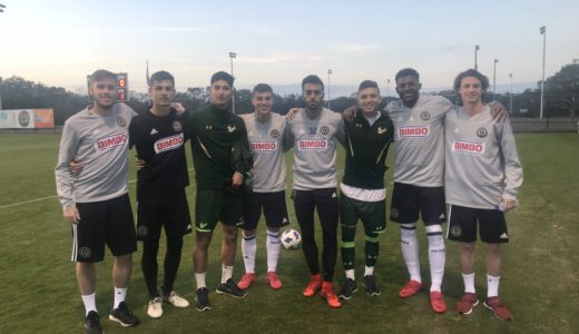 L-R: Michael Pellegrino, Tomas Romero, Josue Monge, Anthony Fontana, Matt Real, Freddy Gil, Mark McKenzie, Brenden Aaronson