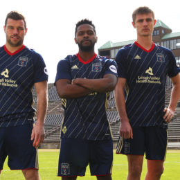 New Steel primary kit, l-r James Chambers,Chris Nanco, Brandon Aubrey