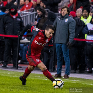 2018 Scotiabank CONCACAF Champions League Final Leg 1 match between MLS Cup Champions Toronto FC and Chivas de Guadalajara at BMO Field on April 17, 2018 in Toronto, ON, Canada.