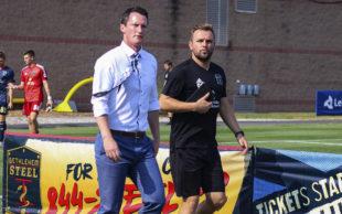 Coaches Burke (l) and Hogan (r)