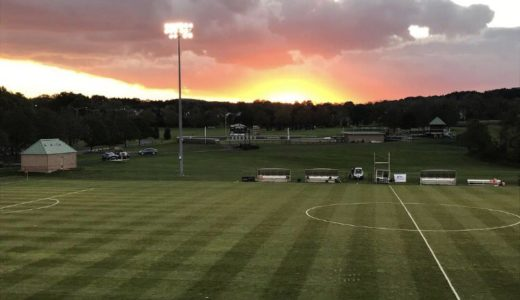 Sun setting over the field in advance of tonight's @LehighWSoccer showdown vs. Bucknell. (https://twitter.com/LehighWSoccer/status/1052685631418224640)