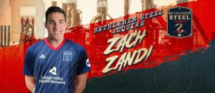 Bethlehem add Villanova midfielder Zach Zandi