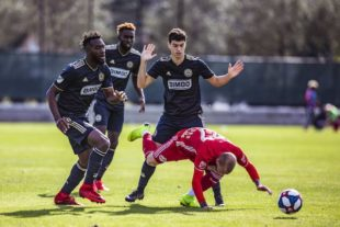 Union in first round of preseason 2019 against Red Bulls.