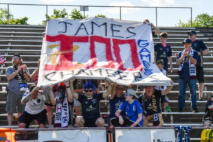 Tifo to celebrate James Chambers 100th game!