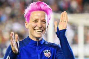 Megan Rapinoe enjoying the fans while at Lincoln Financial Field.