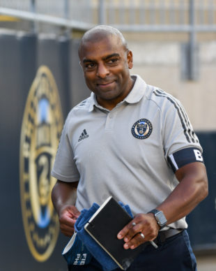 A smile by coach, Marlon LeBlanc, after the Union II's first home victory of the season.