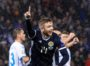 GLASGOW, SCOTLAND - OCTOBER 13: Stuart Findlay is pictured celebrating making it 5-0 to Scotland during the UEFA European qualifier between Scotland and San Marino, on October 13, in Glasgow, Scotland. (Photo by Craig Williamson / SNS Group)
